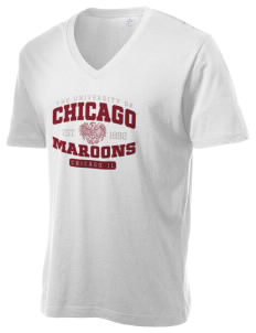 The University of Chicago Maroons Alternative Men's 3.7 oz Basic V-Neck T-Shirt