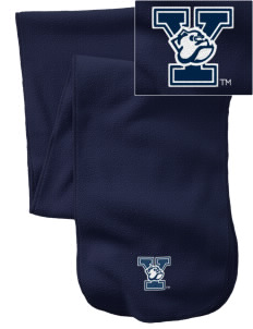 Yale University Bulldogs  Embroidered Extra Long Fleece Scarf
