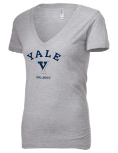 Yale University Bulldogs Women's 4.2 oz Jersey Deep V-Neck T-Shirt