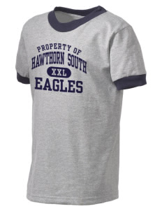 Hawthorn Elementary School South Eagles Kid's Ringer T-Shirt