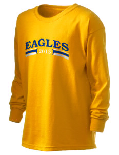 Hawthorn Elementary School South Eagles Kid's 6.1 oz Long Sleeve Ultra Cotton T-Shirt