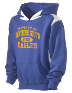 Hawthorn Elementary School South Eagles Kid's Pullover Hooded Sweatshirt with Contrast Color
