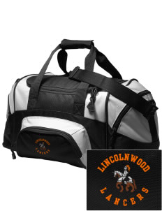 Lincolnwood Senior High School Lancers Embroidered Small Colorblock Duffel