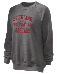 Sterling Middle School Jaguars Unisex Alternative Eco-Fleece Raglan Sweatshirt