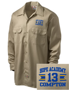 Hope Academy Compton Embroidered Dickies Men's Long-Sleeve Workshirt