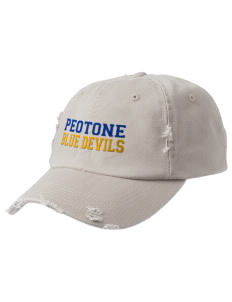 Peotone High School Blue Devils Embroidered Distressed Cap