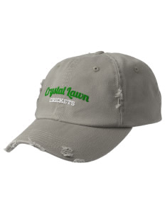 Crystal Lawn Elementary School Crickets Embroidered Distressed Cap