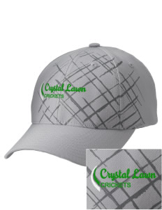 Crystal Lawn Elementary School Crickets Embroidered Mixed Media Cap