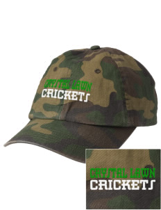 Crystal Lawn Elementary School Crickets Embroidered Camouflage Cotton Cap
