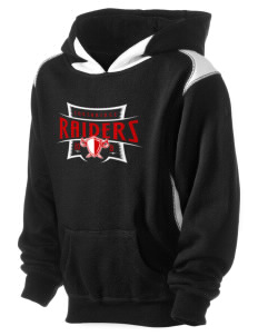 Southridge Middle School Raiders Kid's Pullover Hooded Sweatshirt with Contrast Color