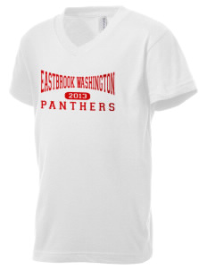 Eastbrook Washington Elementary School Panthers Kid's V-Neck Jersey T-Shirt