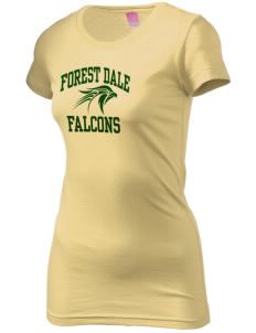 Forest Dale Elementary School Falcons  Juniors' Fine Jersey Longer Length T-Shirt