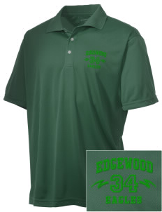 Edgewood Elementary School Eagles Embroidered Men's Double Mesh Polo
