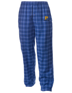 Pine Elementary School Panthers Men's Button-Fly Collegiate Flannel Pant with Distressed Applique