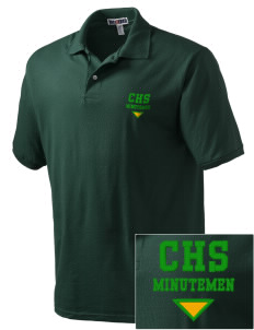 Concord High School Minutemen Embroidered Men's Jersey Polo