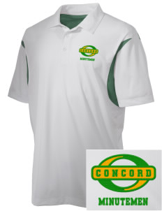 Concord High School Minutemen Embroidered Men's Back Blocked Micro Pique Polo