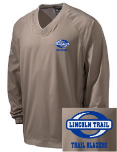Lincoln Trail Elementary School Trail Blazers Embroidered adidas Men's ClimaProof V-Neck Wind Shirt