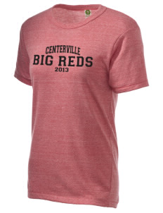 Centerville High School Big Reds Embroidered Alternative Unisex Eco Heather T-Shirt