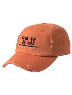 Tripoli Junior & Senior High School Panthers Embroidered Distressed Cap