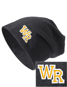 Waverly-Shell Rock Junior High School Hawks Embroidered Slouch Beanie