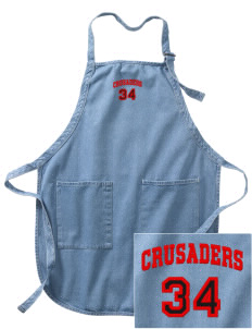 Coon Rapids-Bayard Elementary School Crusaders Embroidered Full-Length Apron with Pockets