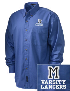 Meservey-Thornton School Lancers Embroidered Tall Men's Twill Shirt