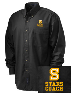 Starmont Elementary School Stars Embroidered Tall Men's Twill Shirt