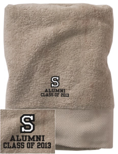 Starmont Elementary School Stars Embroidered Zero Twist Resort Towel