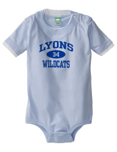 Lyons Middle School Wildcats Baby One-Piece with Shoulder Snaps