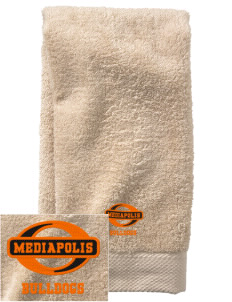 Mediapolis Middle School Bulldogs  Embroidered Zero Twist Resort Hand Towel