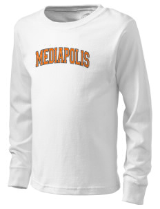 Mediapolis Middle School Bulldogs  Kid's Long Sleeve T-Shirt