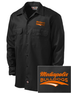 Mediapolis Middle School Bulldogs Embroidered Dickies Men's Long-Sleeve Workshirt
