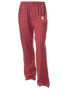 South Elementary School Rams Unisex Button-Fly Collegiate Flannel Pant with Distressed Applique