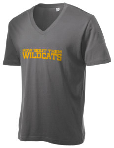 Clyde D Mease Elementary School Wildcats Alternative Men's 3.7 oz Basic V-Neck T-Shirt