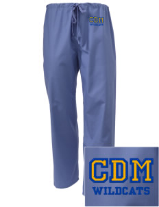 Clyde D Mease Elementary School Wildcats Embroidered Scrub Pants