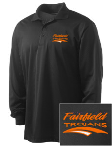 Fairfield Senior High School Trojans Embroidered Men's Long Sleeve Micropique Sport-Wick Sport Shirt