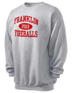 Franklin Elementary School Fireballs Men's 7.8 oz Lightweight Crewneck Sweatshirt