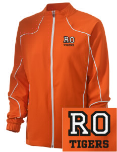 Red Oak Middle School Tigers Embroidered Russell Women's Full Zip Jacket