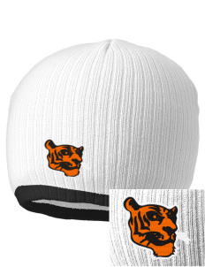 Red Oak Middle School Tigers Embroidered Champion Striped Knit Beanie