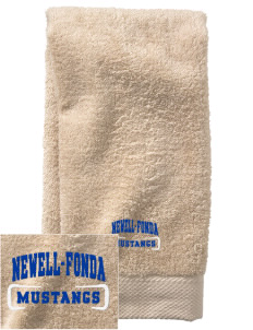 Newell-Fonda Middle School Mustangs  Embroidered Zero Twist Resort Hand Towel