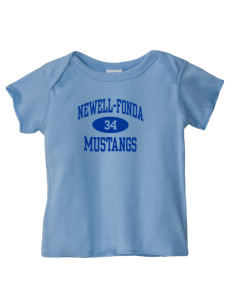 Newell-Fonda Middle School Mustangs  Baby Lap Shoulder T-Shirt