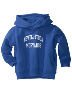 Newell-Fonda Middle School Mustangs  Toddler Fleece Hooded Sweatshirt with Pockets