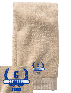 Goodrell Middle School Pioneers  Embroidered Zero Twist Resort Hand Towel