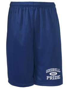"Goodrell Middle School Pioneers Long Mesh Shorts, 9"" Inseam"