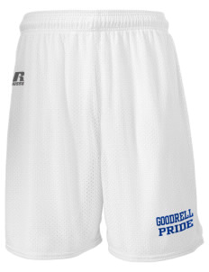 "Goodrell Middle School Pioneers  Russell Men's Mesh Shorts, 7"" Inseam"