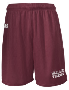 "Wallace Elementary School Tigers  Russell Men's Mesh Shorts, 7"" Inseam"