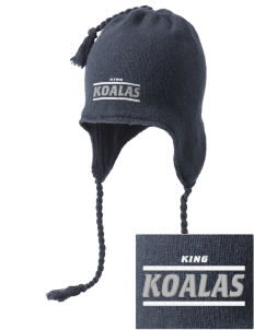 King Elementary School Koalas Embroidered Knit Hat with Earflaps