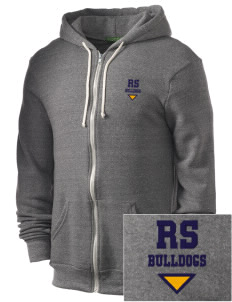 Riverside South Elementary School Bulldogs Embroidered Alternative Men's Rocky Zip Hooded Sweatshirt