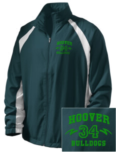 Hoover Elementary School Bulldogs  Embroidered Men's Full Zip Warm Up Jacket
