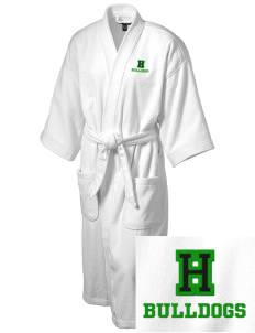 Hoover Elementary School Bulldogs Embroidered Terry Velour Robe